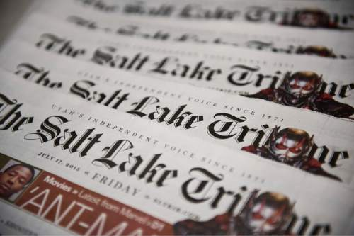 Lennie Mahler  |  Tribune file photo The Huntsman family is buying The Salt Lake Tribune.