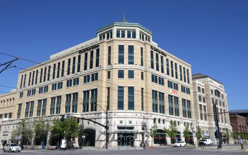 The Salt Lake Tribune is shown Wednesday, April 20, 2016, in Salt Lake City. A son of wealthy industrialist Jon Huntsman Sr. has agreed to buy The Salt Lake Tribune, ending uncertainty about the future of Utah's largest independent newspaper. Digital First Media announced in a news release Wednesday that the company reached an agreement to sell the newspaper to Paul Huntsman. Terms of the deal weren't disclosed. (AP Photo/Rick Bowmer)