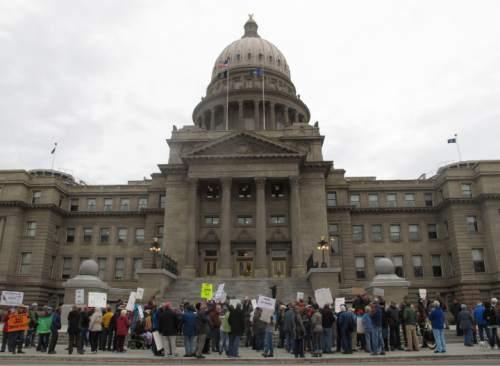 The Idaho Statehouse on, Tuesday, Jan. 19, 2016. (AP Photo/Kimberlee Kruesi)