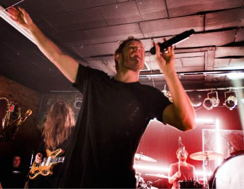 Rick Egan  |  The Salt Lake Tribune  Dan Reynolds sings for Imagine Dragons at Velour in Provo, Saturday, Feb. 21, 2015.