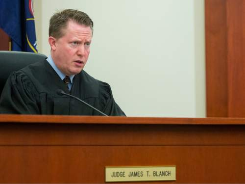 Rick Egan  |  The Salt Lake Tribune  Judge James T. Blanch explains the sentence, during the sentencing of Darwin Christopher Bashaw, who pleaded guilty in February to first-degree felony murder for the 2012 death of 15-year-old Anne Kasprzak, when he was 14 years old. Monday, April 25