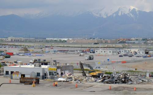 Francisco Kjolseth | The Salt Lake Tribune  Work continues on the Salt Lake City International Airport on Wed. April 27, 2016, during major renovations as part of their terminal redevelopment program.