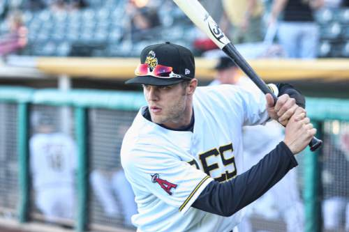 Courtesy  |  Salt Lake Bees  Salt Lake Bees outfielder Nick Buss.