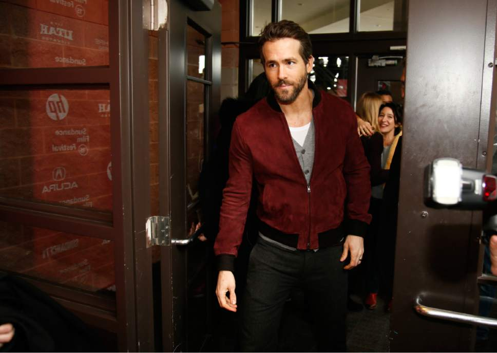 "Actor Ryan Reynolds arrives at the premiere of ""Mississippi Grind"" during the 2015 Sundance Film Festival on Saturday, Jan. 24, 2015, in Park City, Utah. (Photo by Danny Moloshok/Invision/AP)"