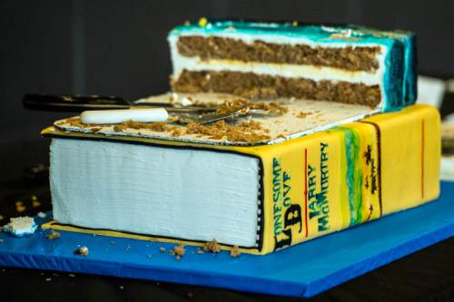 Chris Detrick  |  The Salt Lake Tribune A cake at The Salt Lake Tribune's Pulitzer Prize Centennial Party at Weller Book Works in Trolley Square Thursday April 28, 2016.