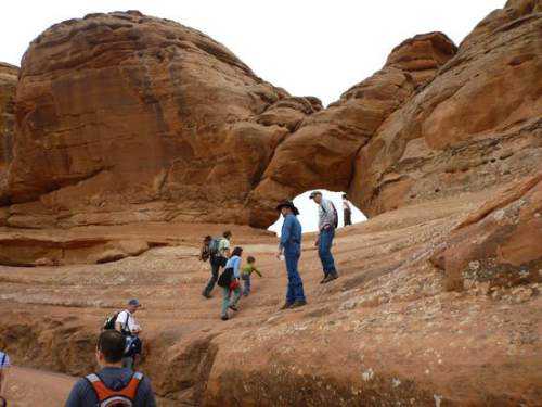 Courtesy  |  National Park Service  Frame Arch - on the Delicate Arch Trail in Arches National Park.