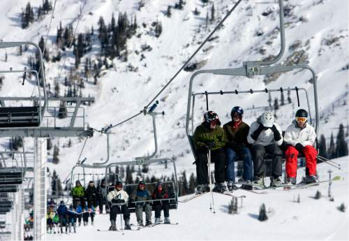 |  Tribune File Photo  People ride the Sugarloaf lift at Atla Ski Area on Presidents Day on February 18, 2012.