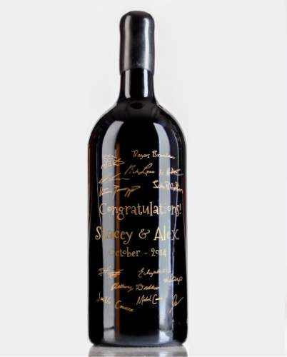 Wedding Guest Books Now Take Many Forms This Oct 2017 Photo Shows A 3l Size Bottle Of Cabernet Sauvignon That Was Used