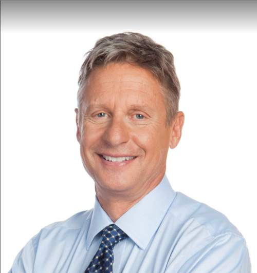 |  Courtesy  Gary Johnson is the 2012 Libertarian Party nominee for president who is again running for his party's nomination from a Salt Lake City campaign headquarters.