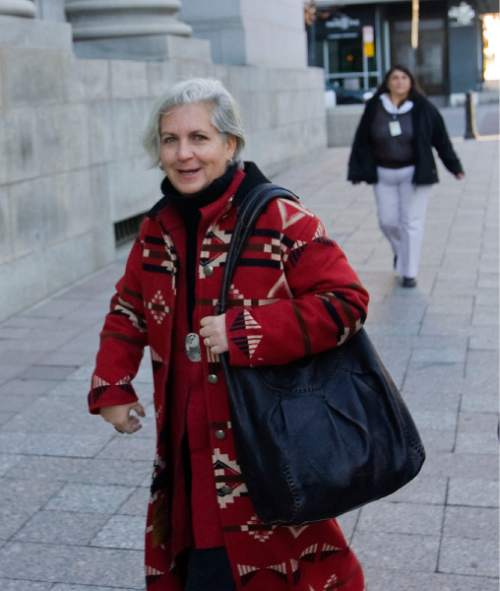 Al Hartmann   |  The Salt Lake Tribune  Western environmental writer Terry Tempest Williams enters Frank Moss Federal Courthouse to attend the first day of the Tim DeChristopher trial Tuesday March 1, 2011.