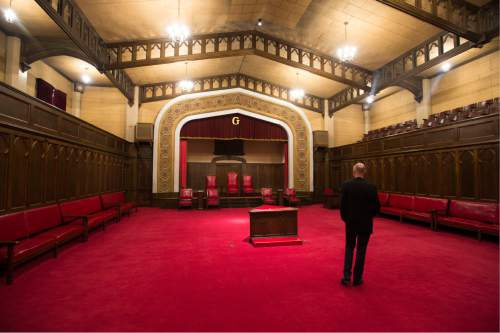 Steve Griffin / The Salt Lake Tribune  The Gothic Room in the Salt Lake Masonic Temple in  Salt Lake City on Tuesday, May 3, 2016. The historic  temple will open its doors to the public on Saturday, May 7, for guided tours.