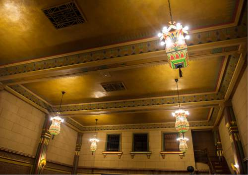 Steve Griffin / The Salt Lake Tribune  The Egyptian Room in the Salt Lake Masonic Temple in  Salt Lake City on Tuesday, May 3, 2016. The historic  temple will open its doors to the public on Saturday, May 7, for guided tours.