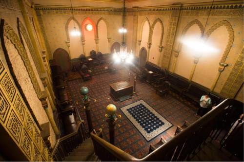 Steve Griffin / The Salt Lake Tribune  The Moorish Room in the Salt Lake Masonic Temple in  Salt Lake City on Tuesday, May 3, 2016. The historic  temple will open its doors to the public on Saturday, May 7, for guided tours.