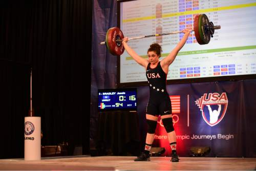 Megha Sandesh  |  Lifting Life  Utah's Jessie Bradley, 19, will compete in Sunday's U.S. Olympic Team Trials at the Salt Palace Convention Center.