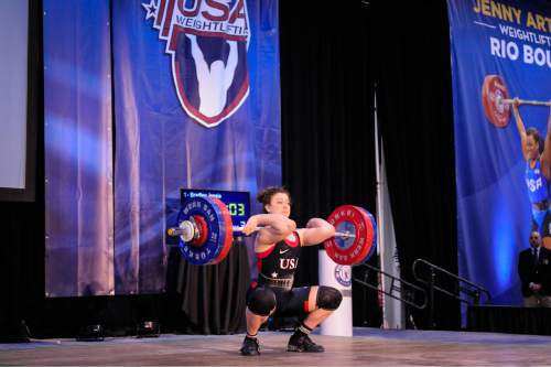 Eric Prestwood  |  Lifting Life  Utah's Jessie Bradley, 19 will compete in Sunday's U.S. Olympic Team Trials at the Salt Palace Convention Center.