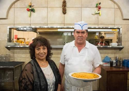 Rick Egan  |  The Salt Lake Tribune  Viola Tovar and Luis Lopez at the La Puente restaurant on State Street, Friday, April 29, 2016.