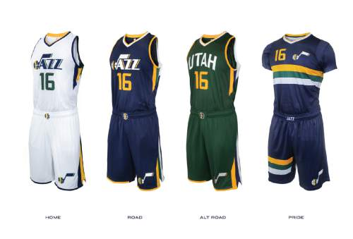 super popular a7f21 313de Utah Jazz unveil new logos, jerseys, court design - The Salt ...