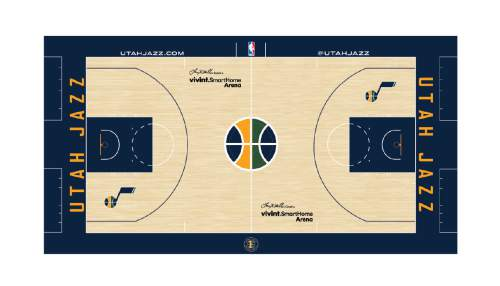 Courtesy image A rendering of a new court design for the Utah Jazz. aa21714e4
