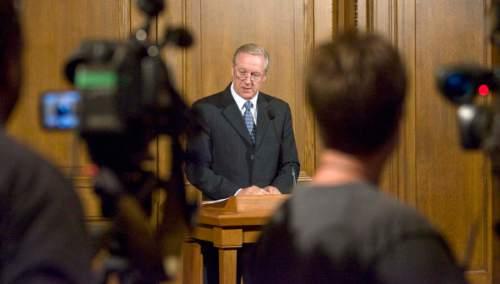 Paul Fraughton  |  The Salt Lake Tribune LDS Church spokesman Michael Otterson in 2010.