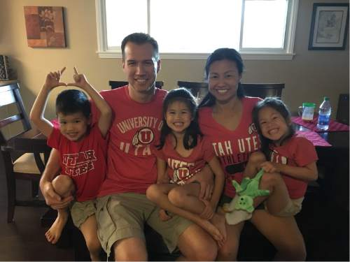 Courtesy photo  Chris and Janis Cantwell and their triplets.