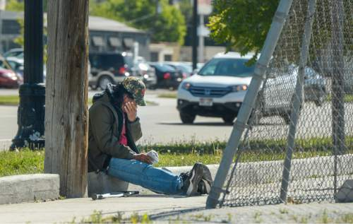Francisco Kjolseth |  Tribune file photo Evidence of homelessness in downtown Salt Lake City is clear. The state last month released year-to-year data that indicates an increase in homelessness, 7 percent overall and as much as 17 percent among families.