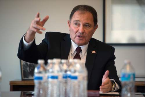 Scott Sommerdorf   |  Tribune file photo Utah Gov. Gary Herbert told lobbyists he will meet with their clients anytime, anywhere in exchange for generous donations to his campaign.