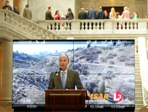 Steve Griffin     Tribune file phot  Gov. Gary Herbert said Lt. Gov. Spencer Cox and governor's chief of staff Justin Harding will be running the state for the next several weeks heading into the Republican Primary while he focuses his time and energy on campaign fundraising.