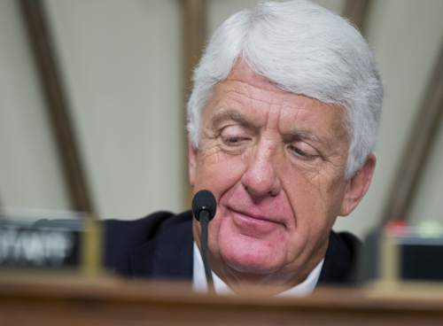 """House Natural Resources Committee Chairman Rep. Rob Bishop, R-Utah, presides over an oversight hearing about the """"U.S. Department of the Treasury's analysis of the situation in Puerto Rico,"""" on Capitol Hill in Washington, Thursday, Feb. 25, 2016.  (AP Photo/Manuel Balce Ceneta)"""