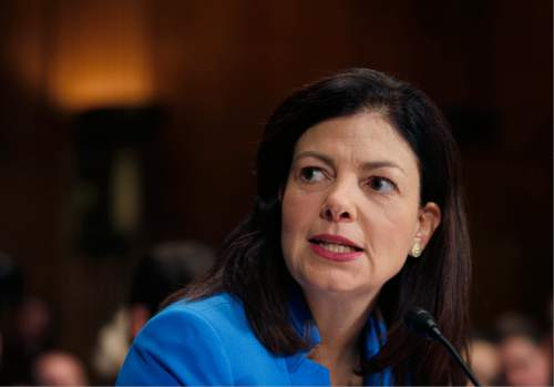 CORRECTS FROM SEN. KELLY AYOTTE, D-N.H  TO  R-N.H - Sen. Kelly Ayotte, R-N.H., testifies during a Senate Judiciary Committee hearing on attacking America's epidemic of heroin and prescription drug abuse, on Capitol Hill, Wednesday, Jan. 27, 2016 in Washington. (AP Photo/Alex Brandon)