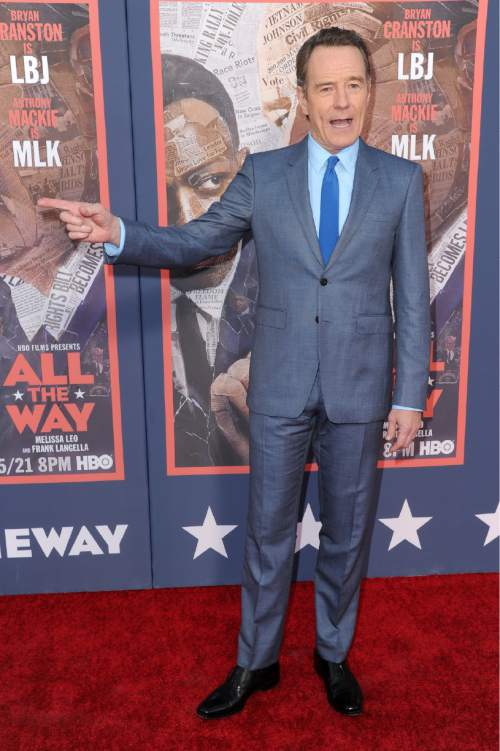 """Bryan Cranston attends the LA Premiere of """"All The Way"""" held at Paramount Pictures Studios on Tuesday, May 10, 2016, in Los Angeles. (Photo by Richard Shotwell/Invision/AP)"""