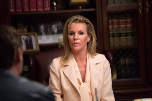 """This image released by Warner Bros. Entertainment shows Kim Basinger in a scene from """"The Nice Guys."""" (Daniel McFadden/Warner Bros. Entertainment via AP)"""