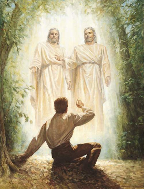 Photo courtesy of the LDS Church  Joseph Smith's first vision.