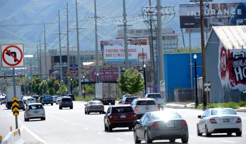 "Al Hartmann  photo As one drives east into the capital city's entrance at the I-15 600 South off ramp, drivers look onto a mix of power lines, billboards, chain link fences and weedy lots.   A group of leaders from the Salt Lake Chamber, Salt Lake City, Salt Lake County and the private sector are moving forward with what they are calling ""The Grand Boulevards Corridor Plan,"" that will look at improving 500 South and 600 South between I-15 and State Street."