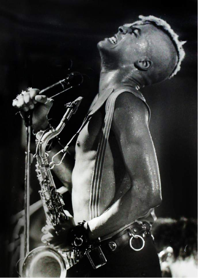 Rick Egan  |  The Salt Lake Tribune  Angelo Moore, Fishbone, December 5, 1989, Speedway Cafe.