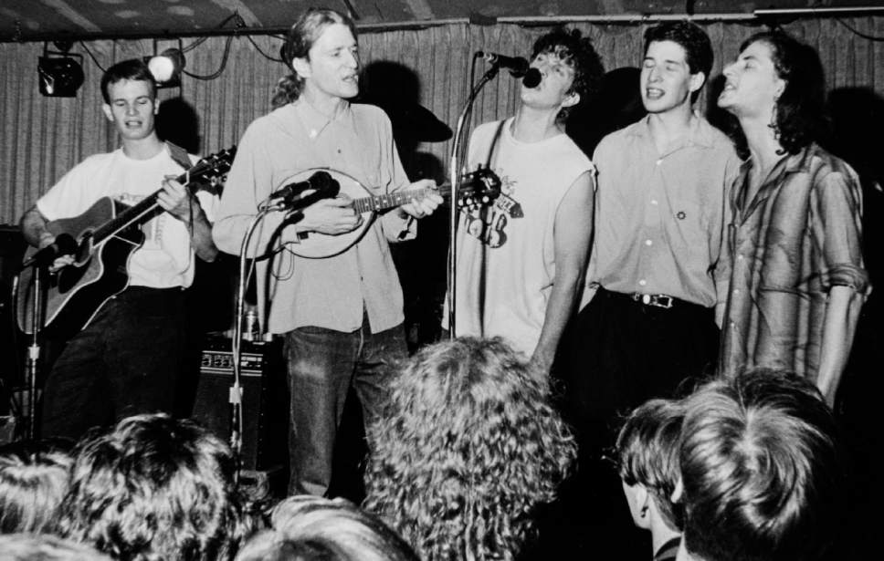Rick Egan  |  The Salt Lake Tribune  Camper Van Beethoven,  The Speedway Cafe, July 24, 1988.