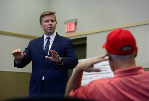 Scott Sommerdorf   |   Tribune file photo GOP gubernatorial candidate Jonathan Johnson has won the endorsement of the tea-party group FreedomWorks.
