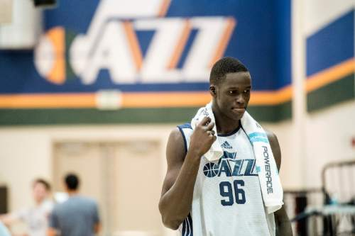 Chris Detrick  |  The Salt Lake Tribune Thon Maker after a workout at the Zions Bank Basketball Center Wednesday May 25, 2016.