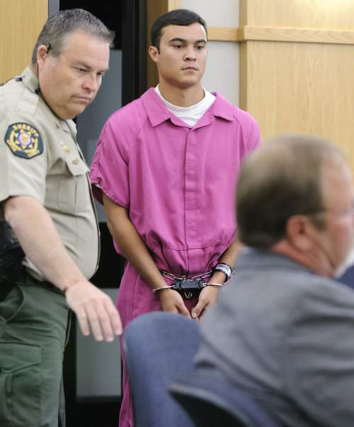 Jason Relopez appears in 1st District Court for a preliminary hearing on Thursday. Relopez was bound over to stand trial for rape and aggravated sexual assault.
