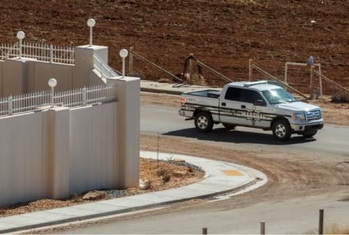 Trent Nelson  |  The Salt Lake Tribune Colorado City Marshal on patrol Monday, February 18, 2013 in Hildale, Utah.