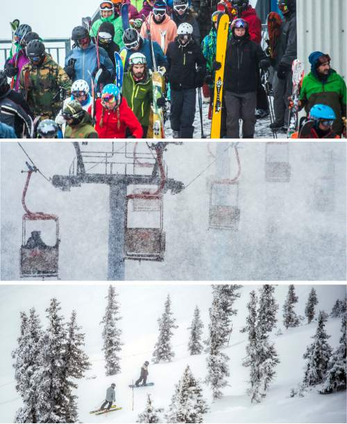 Photos by Chris Detrick and Steve Griffin  |  The Salt Lake Tribune Skiers and snowboarders ride Utah's resorts during the 2015-2016 ski season.