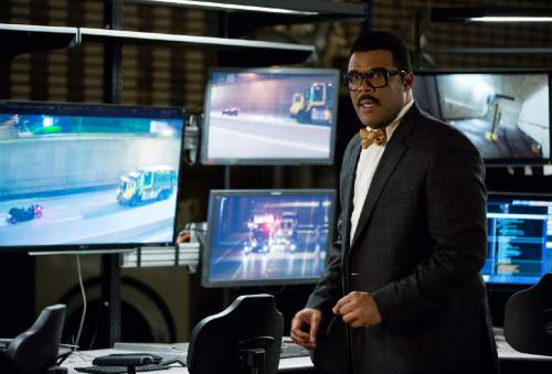 "This image released by Paramount Pictures shows Tyler Perry as Baxter Stockman in a scene from ""Teenage Mutant Ninja Turtles: Out of the Shadows."" (Jessica Miglio/Paramount Pictures via AP)"