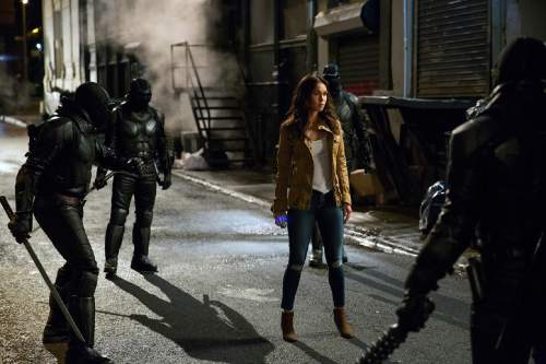 "This image released by Paramount Pictures shows Megan Fox as April O'Neil in a scene from ""Teenage Mutant Ninja Turtles: Out of the Shadows."" (Jessica Miglio/Paramount Pictures via AP)"