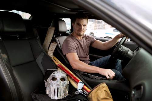 "This image released by Paramount Pictures shows  Stephen Amell as Casey Jones in a scene from ""Teenage Mutant Ninja Turtles: Out of the Shadows."" (Jessica Miglio/Paramount Pictures via AP)"