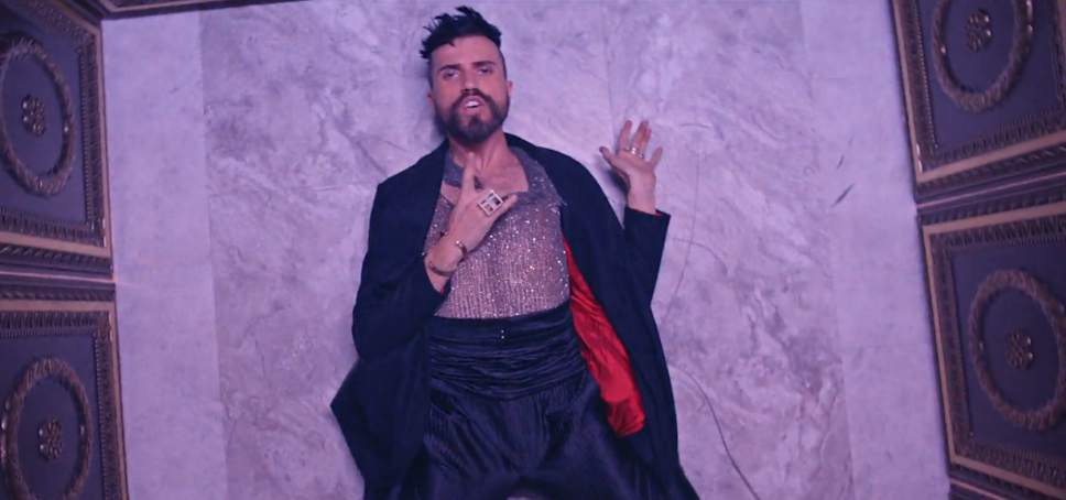 """A screenshot from the video for """"Trash,"""" the debut single from Tyler Glenn's first solo effort."""