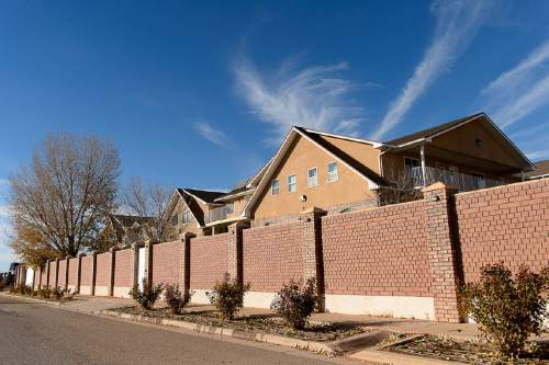 """Trent Nelson     The Salt Lake Tribune FLDS leader Lyle Jeffs lives in the large Jeffs compound, known as """"the block"""", in Hildale, Wednesday December 2, 2015."""