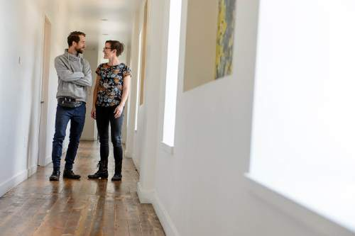 Trent Nelson     The Salt Lake Tribune Photo Collective Studios co-owners Dave Brewer and Jessie Jude Gilmore at their downtown Salt Lake City location, Thursday May 26, 2016. The group has purchased the Ladies Literary Club building on South Temple from Utah Heritage Foundation. They will be turning it into an cross-disciplinary arts and education space, in keeping with the building's history of devotion to culture and learning.