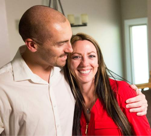 Rick Egan  |  The Salt Lake Tribune  Weldon Angelos hugs his sister Lisa in her Sandy home, Friday, June 3, 2016. Angelos was released from prison on Tuesday.