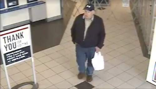 Courtesy     Logan City Police Department  Logan police want the public's help in identifying a man who has allegedly sent packages of adult material to a high school student.