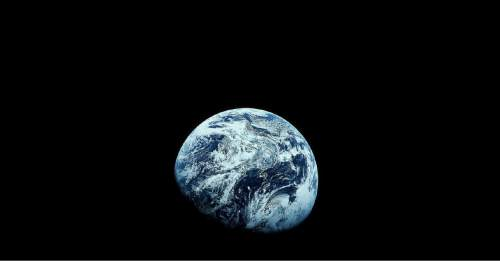 """FILE - This December 1968 file photo provided by NASA shows Earth as seen from the Apollo 8 spacecraft. The images provided by the NASA mission were the first to how the planet in its entirety. NASA, the agency that epitomized the """"Right Stuff,"""" looks lost in space and doesn't have a clear sense of where it is going, an independent panel of science and engineering experts said in a stinging report Wednesday. (AP Photo/NASA, File)"""