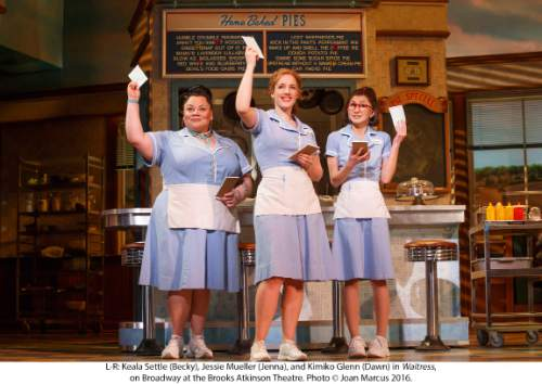 """Actor Keala Settle (left), a graduate of Southern Utah University, originated the role of Becky in Broadway's Tony nominated """"Waitress."""" Joan Marcus     Courtesy"""